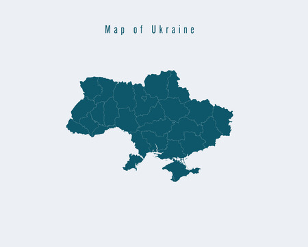 federal states: Modern Map - Ukraine with federal states
