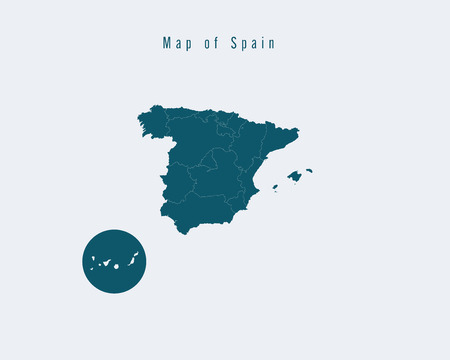 federal states: Modern Map - Spainwith federal states