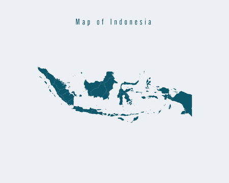 federal states: Modern Map - Indonesia with federal states