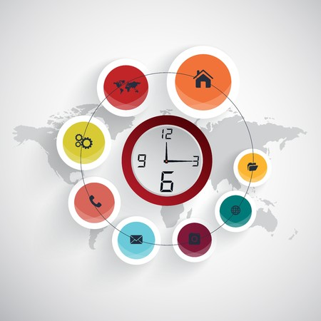 complement: Business timeline infographic template. Vector illustration.