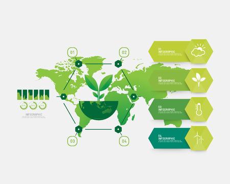 environment infographic Иллюстрация