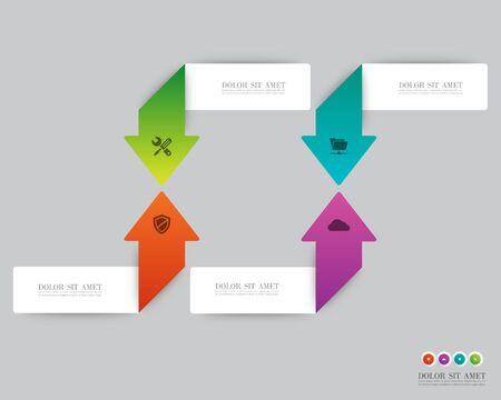 Arrow infographic Vector.