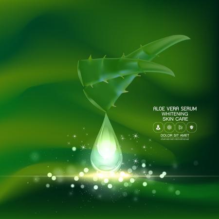 serum: Aloe Vera collagen Serum and Background Concept Skin Care Cosmetic