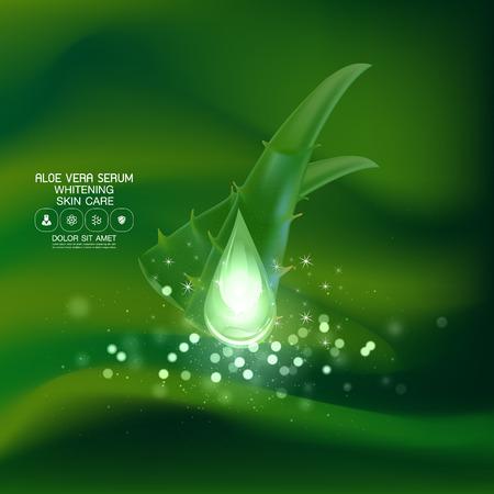 vera: Aloe Vera collagen Serum and Background Concept Skin Care Cosmetic