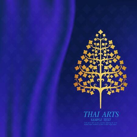 Thai Kunst Vektor Hintergrund.