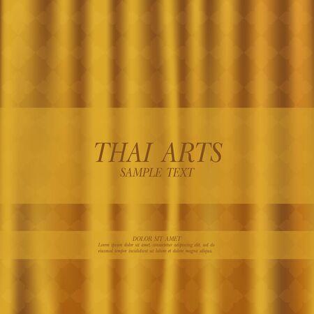 Thai Art vector background. Illusztráció