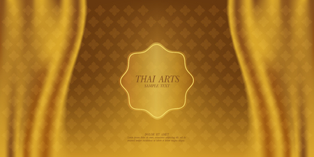 Thai Art vector background. Illustration