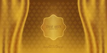 Thai Art vector background. Çizim