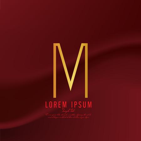 Golden letter J logo template. Vector illustration