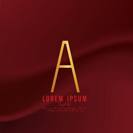 deficient: Golden letter A logo template. Vector illustration Illustration