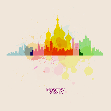 MOSCOW Vector silhouettes of the city