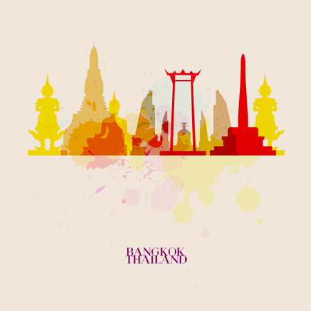 BANGKOK Vector silhouettes of the city 向量圖像