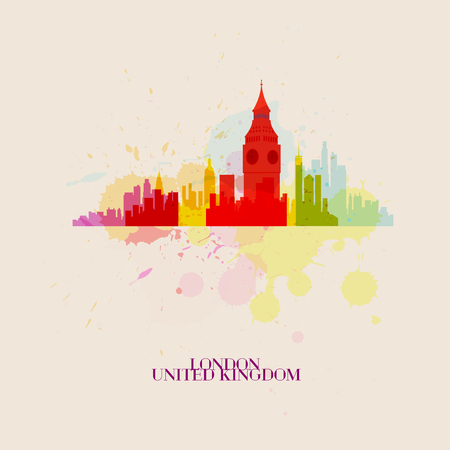 london night: LONDON Vector silhouettes of the city