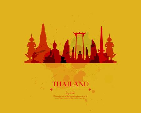 Thailand Travel Vector  Illustration Иллюстрация
