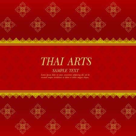 Thai Art vector background. Иллюстрация