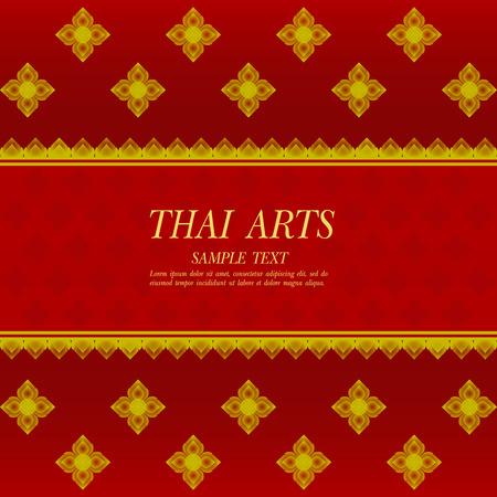 Line thai traditional art pattern vector illustration.