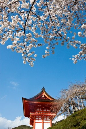 the world cultural heritage: Gateway of Kiyomizu Temple in Kyoto Japan.