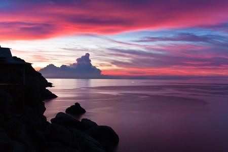 The beautiful sunset photo