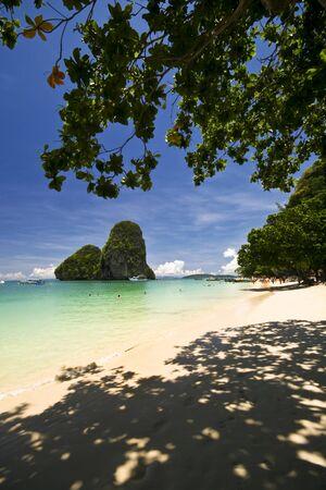 southern of thailand: Tropical beach, Andaman Sea, Southern Thailand Stock Photo