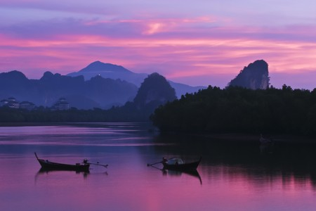krung: Beautiful Sunrise at Krung province, Souther of Thailand