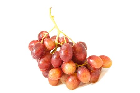 HIGH Resolution isolate bunch of  red grape photo
