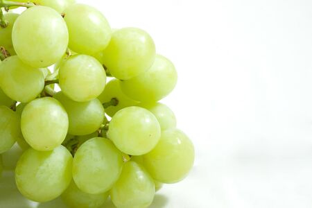 HIGH Resolution isolate bunch of  Green grape photo