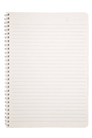 Isolated notebook on white photo