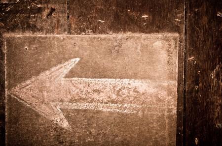 vintage chalk arrow sign Stock Photo - 7969485
