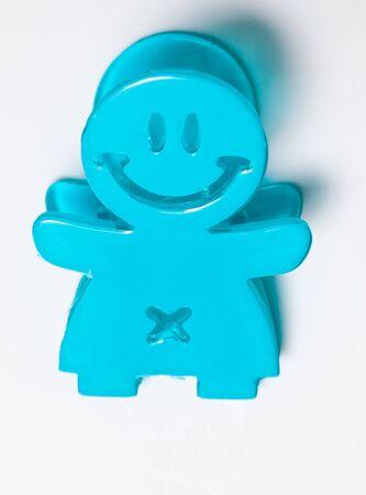 Happy paper clip Stock Photo - 7969417