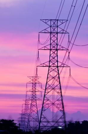 electricidad industrial: puesto de alto voltaje