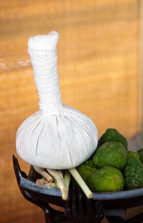 Thai herb ball for massage photo