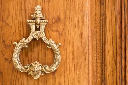 front entry: Vintage door knocker