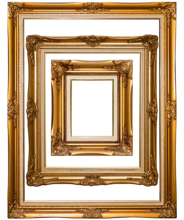 ornamental frames: Isolated wooden Photo Frame