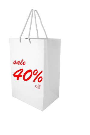 sale discount 40% paper bag for shopping promotion photo