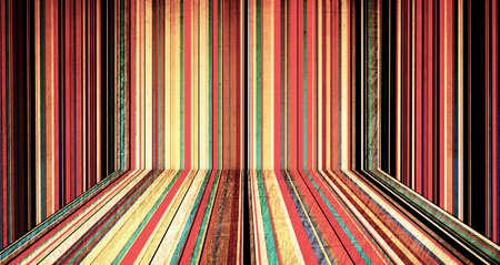 creative color striped room photo