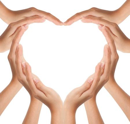 corazon en la mano: Manos hacen que forma de coraz�n