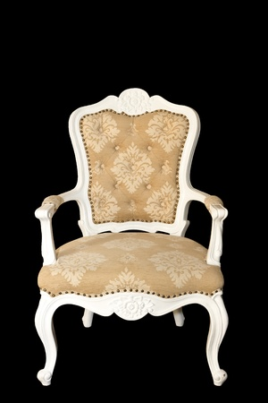 arm chair: Isolated: luxury arm chair on black background