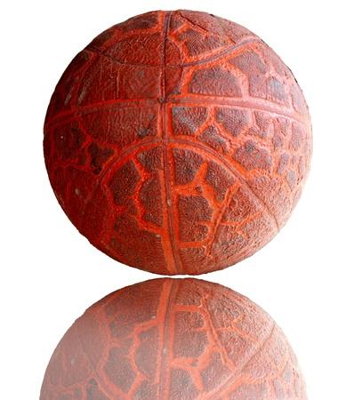 Old grunge basketball photo