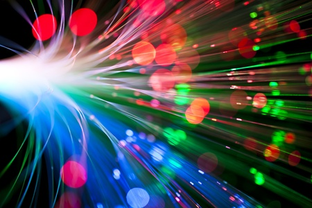 luminescence: Optical fiber lighting   Communication concept