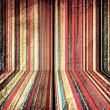 Vintage paper with color striped photo