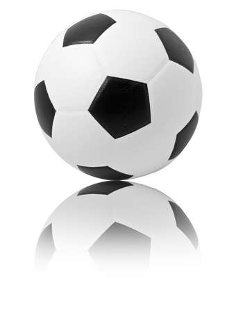 a soccer ball with reflex Stock Photo - 8556335