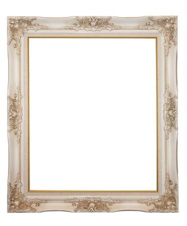 XXL isolated: Vintage wood frame Stock Photo - 8556334