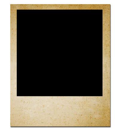 photo film: Isolated: Blank photo  on white