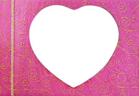 Pink heart photo album photo