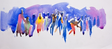 watercolor paper: community abstract water color