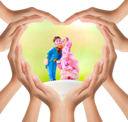 Hands make heart shape Stock Photo - 8816406