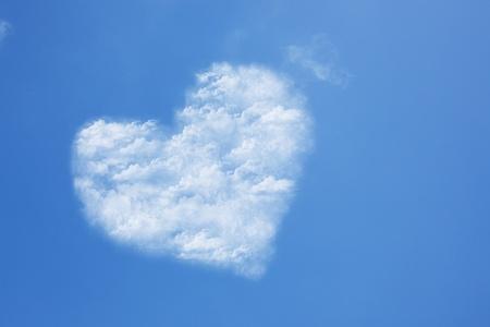 heart in the blue sky cloud photo
