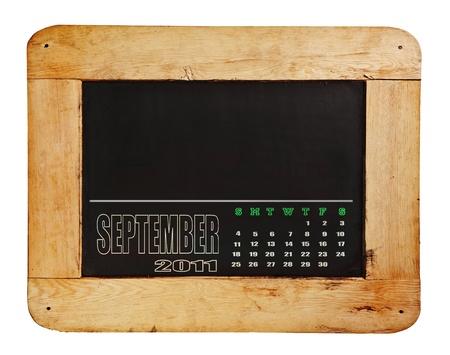 isolated, blackboard on wooden frame photo