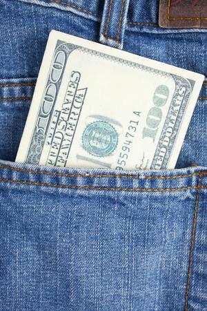 Money in pocket photo