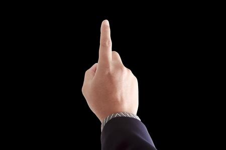Hand touching Stock Photo - 9375578
